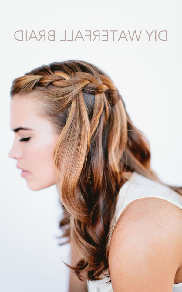 Waterfall Braid Wedding Hairstyles For Long Hair – Once Wed Regarding Natural Looking Braided Hairstyles For Brides (View 25 of 25)