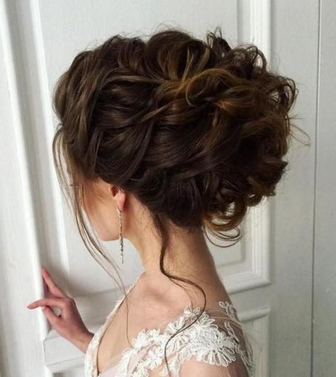 Weddbook ~ Updo With Tendrils Check Out How Thick Her Hair Looks Within Woven Updos With Tendrils For Wedding (View 2 of 25)
