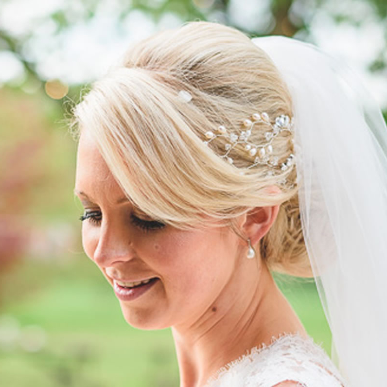 Wedding Bun Hairstyles – Hair Accessories Blog Pertaining To Bridal Chignon Hairstyles With Headband And Veil (View 9 of 25)