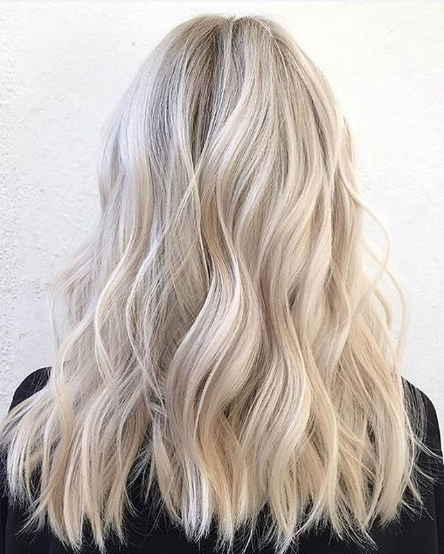Wedding Hair Colour? Love This Milky Blonde Tones #blondeinspo Within Blonde And Bubbly Hairstyles For Wedding (View 9 of 25)