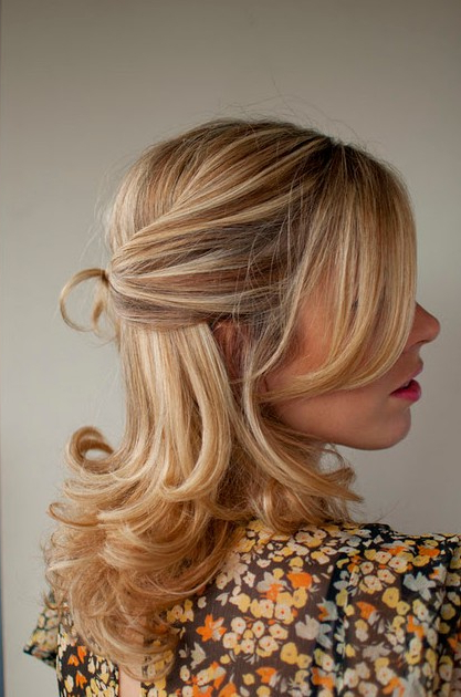 Wedding Hair Idea: Twisted Half Up Half Down Hairstyle – Hairstyles Intended For Twisted And Pinned Half Up Wedding Hairstyles (View 4 of 25)