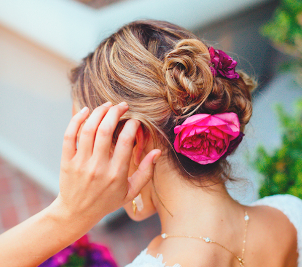 Wedding Hair Ideas That Are Perfect For A Destination Wedding Intended For Loose Updo Wedding Hairstyles With Whipped Curls (View 25 of 25)