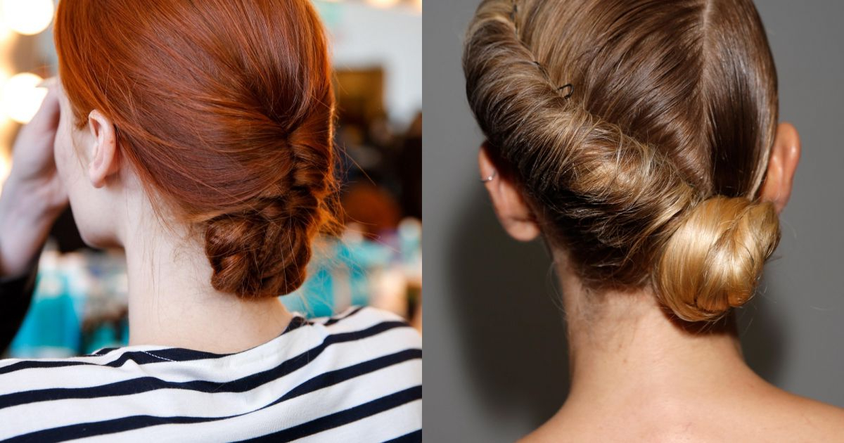 Wedding Hair: Twisted Low Bun Vs (View 18 of 25)