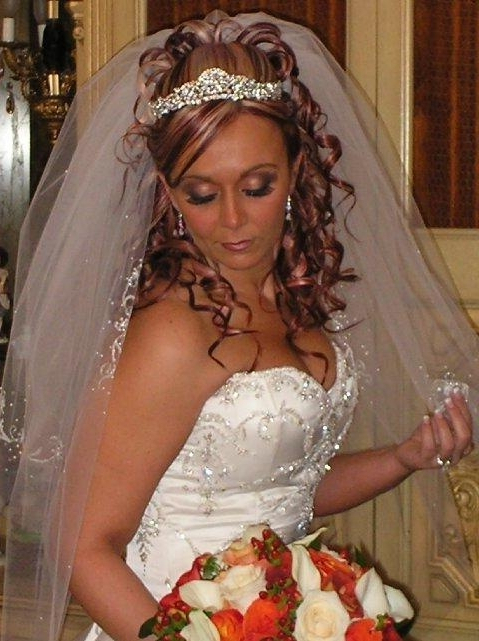 Wedding Hair With Veil And Tiara – Google Search For Blonde Half Up Bridal Hairstyles With Veil (View 19 of 25)