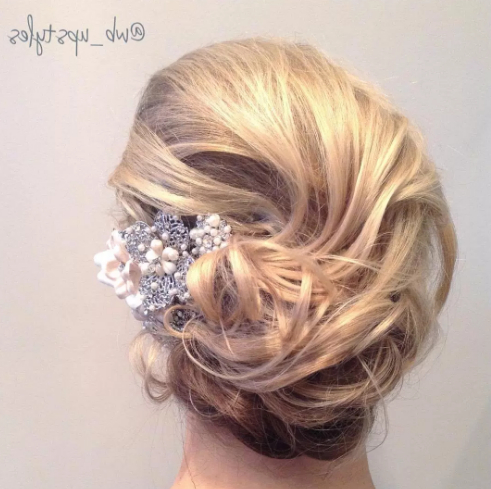 Wedding Hairstyle Inspiration 2017 – Hairstyles Tips With Airy Curly Updos For Wedding (View 6 of 25)