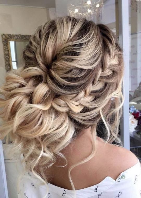 Wedding Hairstyle Inspiration – Elstile | Beach Wedding Hair Styles Pertaining To White Blonde Twisted Hairdos For Wedding (View 4 of 25)