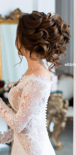 Wedding Hairstyles 8 04292016 Km | Wedding Hairstyles | Pinterest Pertaining To Airy Curly Updos For Wedding (View 12 of 25)