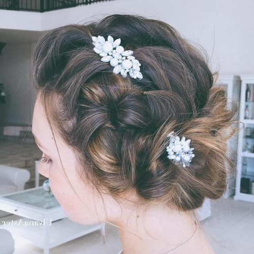 Wedding Hairstyles | Bali Happy Wedding Planner | Bali Wedding Intended For Teased Wedding Hairstyles With Embellishment (View 8 of 25)