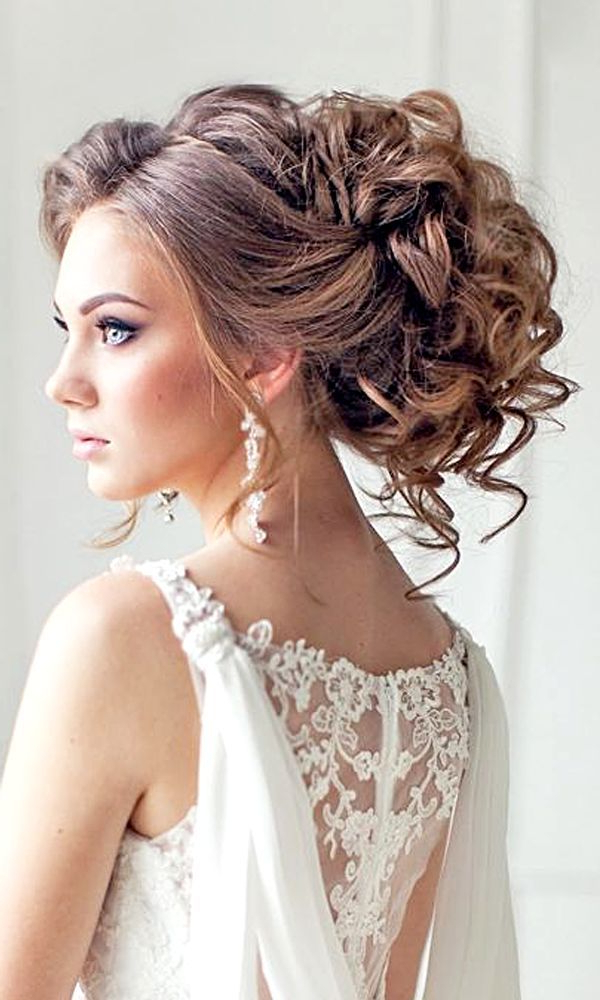 Wedding Hairstyles : Elstile Long Wedding Hairstyles #bride #bridal Pertaining To Sides Parted Wedding Hairstyles (View 22 of 25)