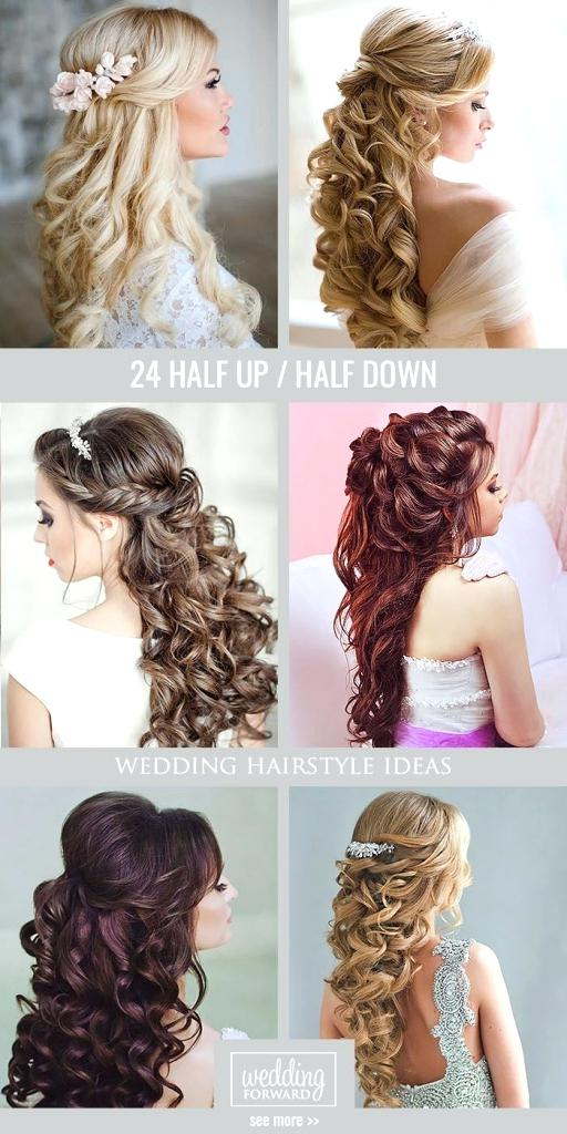 Wedding Hairstyles For Curly Hair – Canihas In Half Up Curls Hairstyles For Wedding (View 17 of 25)