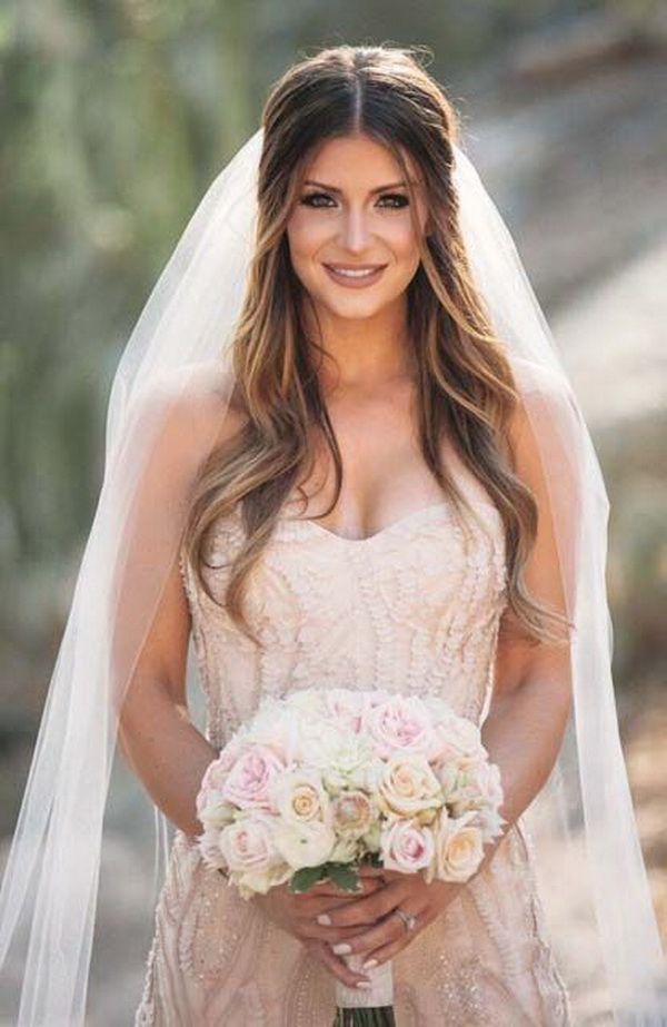 Wedding Hairstyles For Long Hair: 30 Most Fabulous Inspirations For Veiled Bump Bridal Hairstyles With Waves (View 25 of 25)