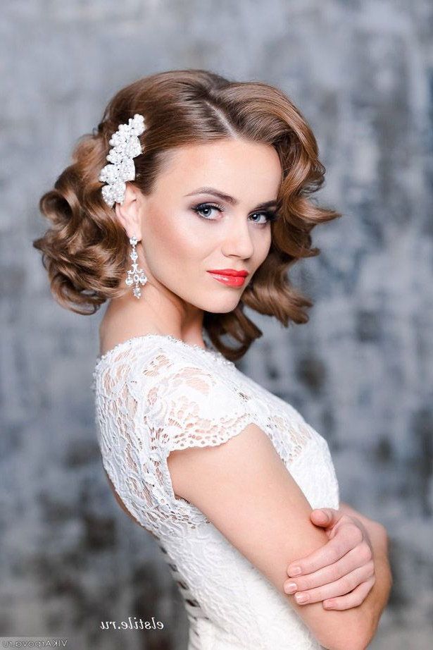 Wedding Hairstyles For Short Hair – Hardeeplive – Hardeeplive Throughout Airy Curly Updos For Wedding (View 14 of 25)
