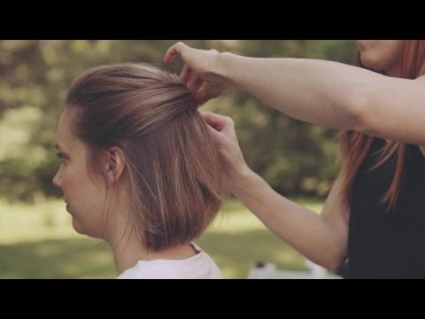 Wedding Hairstyles For Short Hair: How To Make An Updo – Youtube Pertaining To Simple Halfdo Wedding Hairstyles For Short Hair (View 20 of 25)