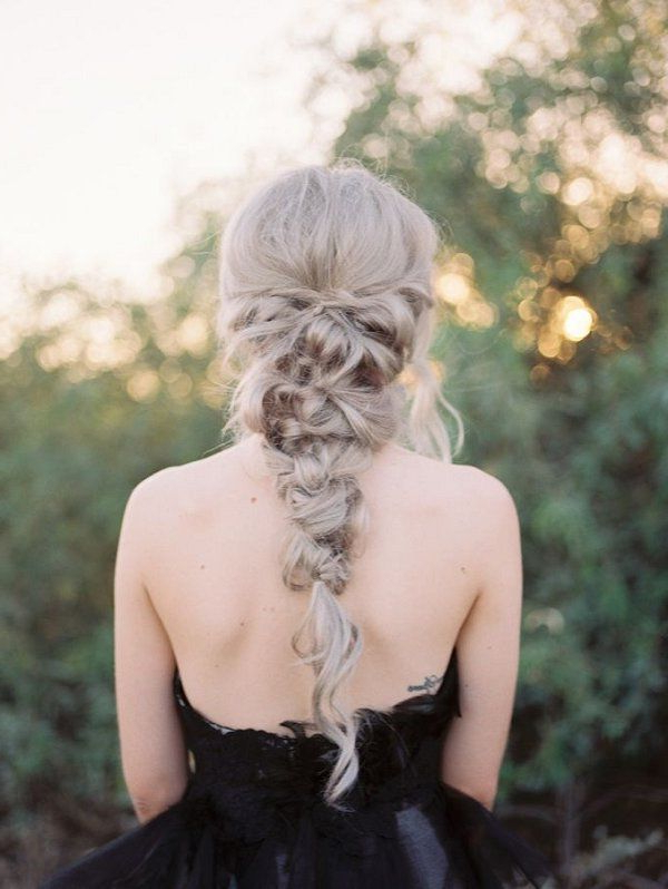 Wedding Hairstyles : Gallery: Messy Twisted Braid Wedding Hairstyle Intended For Braided Lavender Bridal Hairstyles (View 18 of 25)