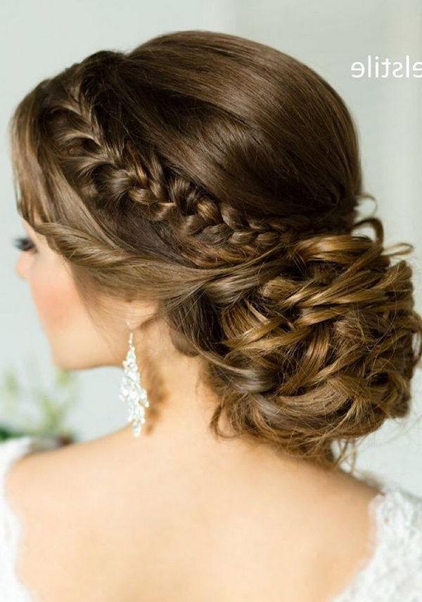 Wedding Hairstyles : Half Updo, Braids, Chongos Updo Wedding In Wedding Semi Updo Bridal Hairstyles With Braid (View 16 of 25)