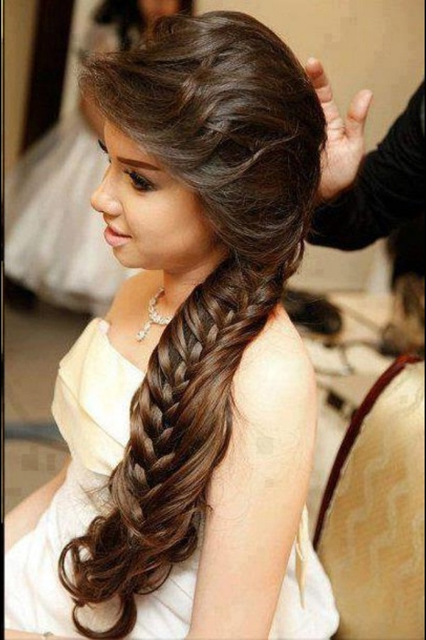 Wedding Hairstyles Long Hair Intended For Voluminous Side Wedding Updos (View 7 of 25)