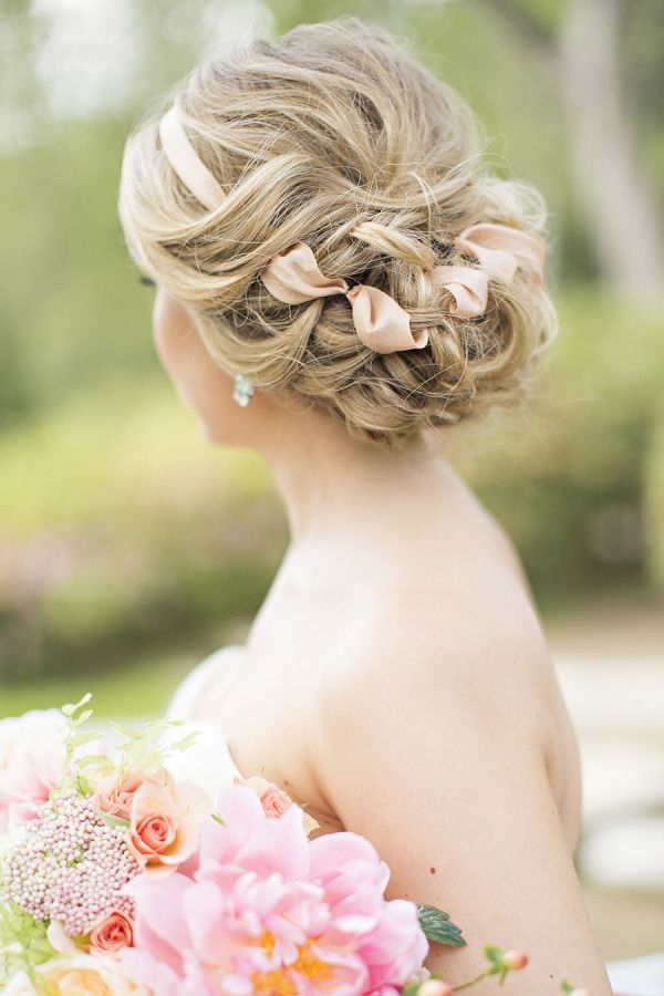 Wedding Hairstyles : Messy Loose Curls Wedding Updo With Blush With Subtle Curls And Bun Hairstyles For Wedding (View 17 of 25)