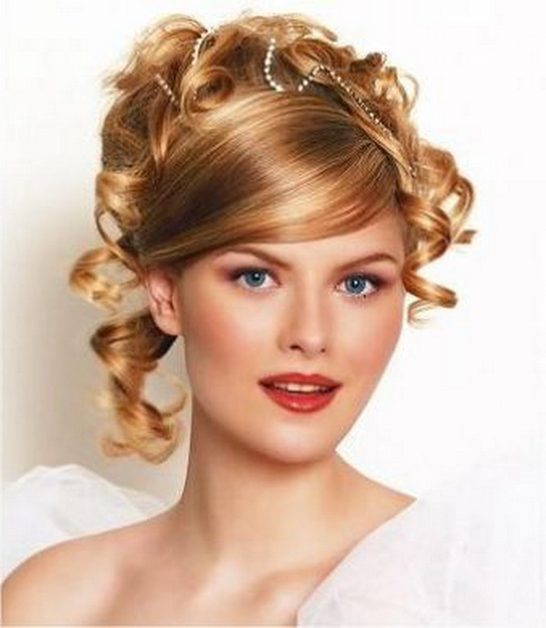 Wedding Hairstyles Short Curly Hair | Best Wedding Hairs Pertaining To Curly Wedding Updos With A Bouffant (View 19 of 25)