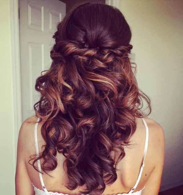Wedding Hairstyles | Tulle & Chantilly Wedding Blog Inside Golden Half Up Half Down Curls Bridal Hairstyles (View 19 of 25)