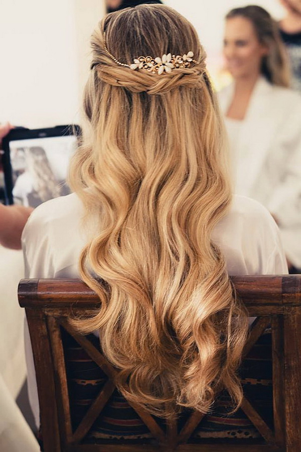 Wedding Hairstyles | Tulle & Chantilly Wedding Blog Intended For Golden Half Up Half Down Curls Bridal Hairstyles (View 25 of 25)