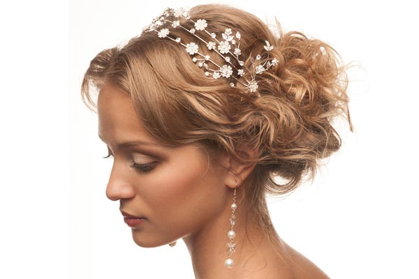 Wedding Hairstyles With A Headband In Curled Bridal Hairstyles With Tendrils (View 3 of 25)