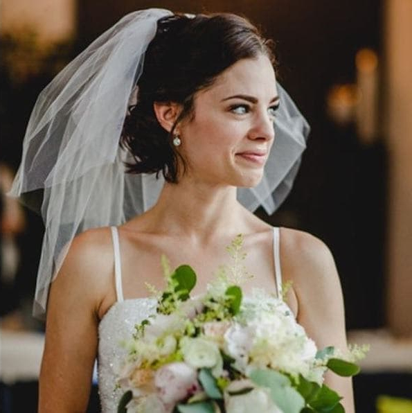 Wedding Hairstyles With A Veil: 12 Fairytale Perfect Looks To Within Blonde Half Up Bridal Hairstyles With Veil (View 15 of 25)