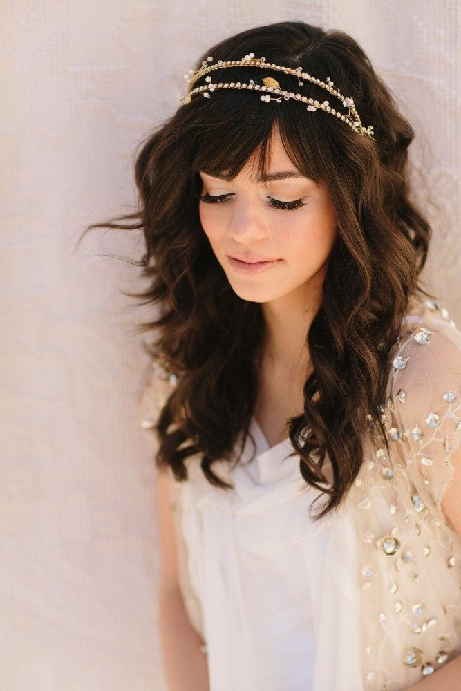 Wedding Hairstyles With Regard To Long Curly Bridal Hairstyles With A Tiara (View 14 of 25)
