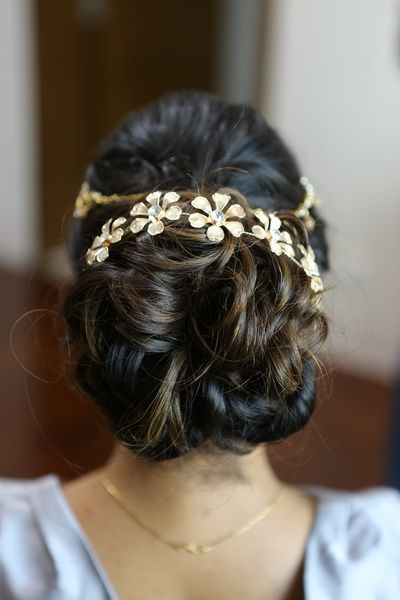 Wedding Ideas & Inspiration | Hairstyles | Pinterest | Hair Styles within Wavy Low Bun Bridal Hairstyles With Hair Accessory