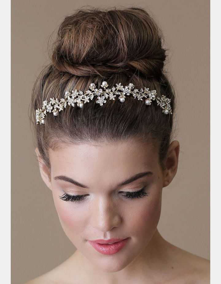 Wedding Inspiration | Wedding Hair Style | Bridal Hair, Wedding With Regard To Soft Wedding Updos With Headband (View 19 of 25)