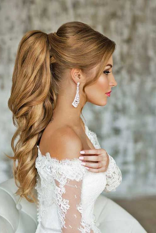 Wedding Ponytail Hairstyle For Women | Photo | Pinterest | Hair Within Fancy Flowing Ponytail Hairstyles For Wedding (View 4 of 25)