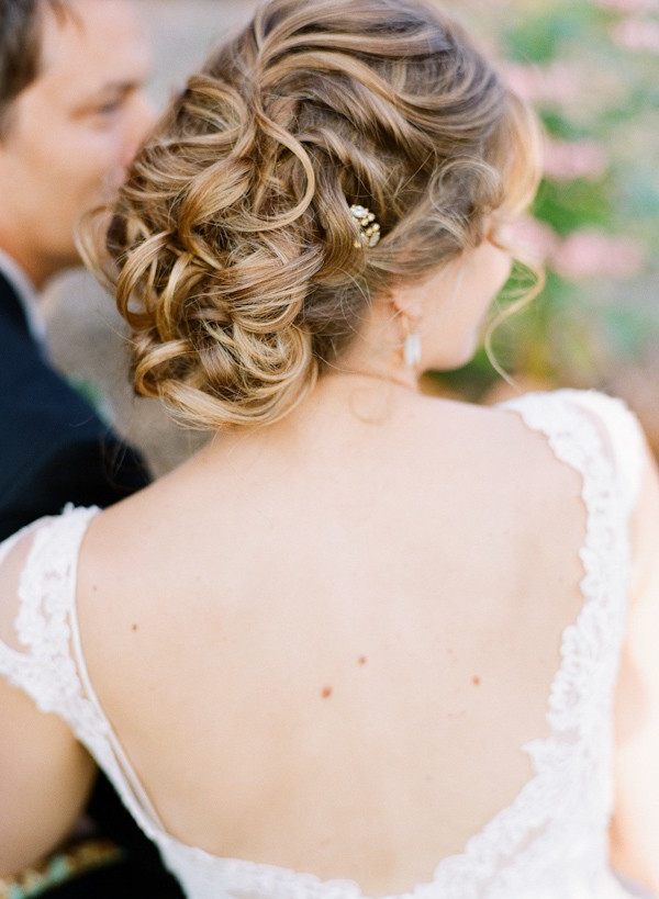 Wedding Updo Hairstyle Ideas — Trendy Bride – Fine Art Wedding Blog Inside Curled Bridal Hairstyles With Tendrils (View 6 of 25)