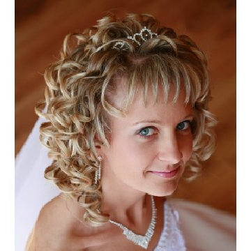 Wedding Updo Hairstyle: Wedding Hair Style For Long Curly Hair With Regard To Long Curly Bridal Hairstyles With A Tiara (View 7 of 25)