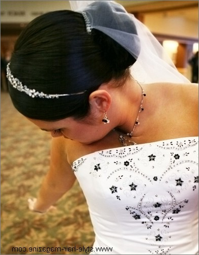 Wedding Updo Photo Gallery In Bridal Chignon Hairstyles With Headband And Veil (View 20 of 25)