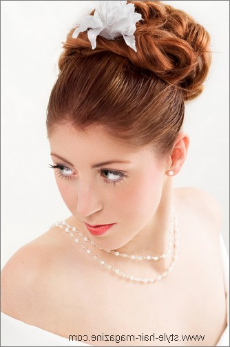 Wedding Updo Photo Gallery Throughout Large Hair Rollers Bridal Hairstyles (View 20 of 25)