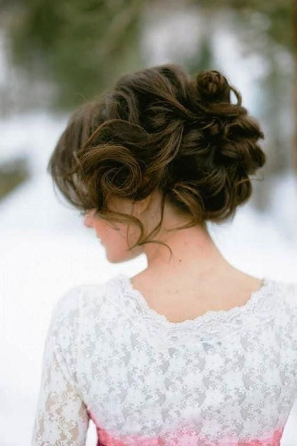 Wedding Updos For Long Hair – 12 Best Ideas – Elasdress Regarding Modern Updo Hairstyles For Wedding (View 6 of 25)
