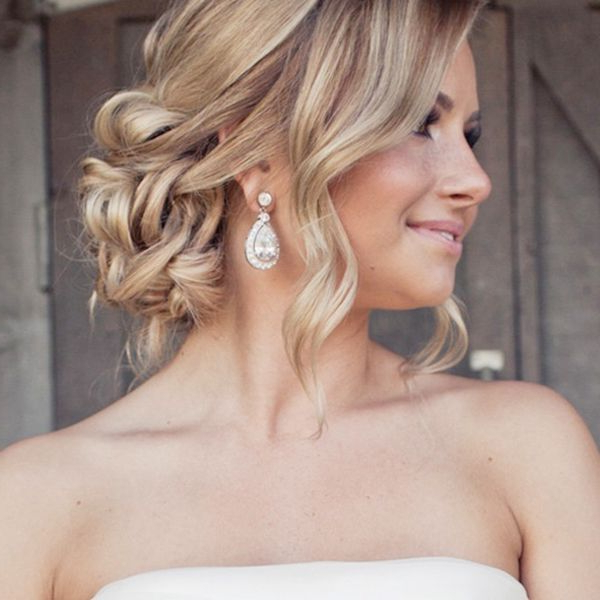 Wedding Updos That Are Beautiful From Every Angle | Hairstyles 1001 Regarding Curled Bridal Hairstyles With Tendrils (View 2 of 25)