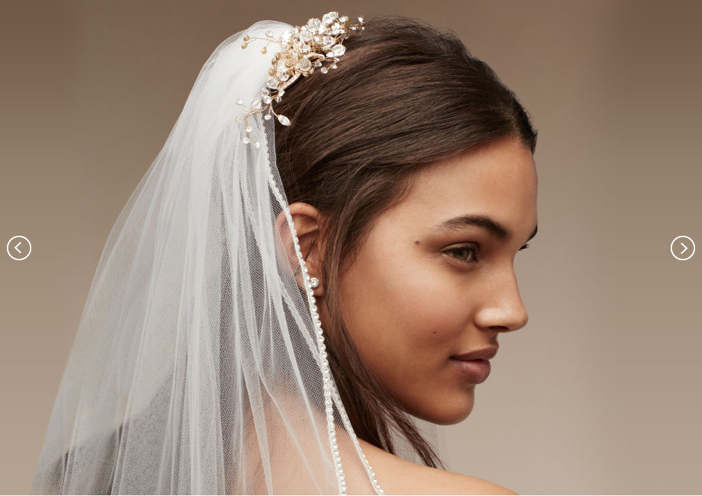 Wedding Veil Styles: Bridal Headpieces, Tiaras & Veils | David's Bridal In Classic Bridal Hairstyles With Veil And Tiara (View 11 of 25)