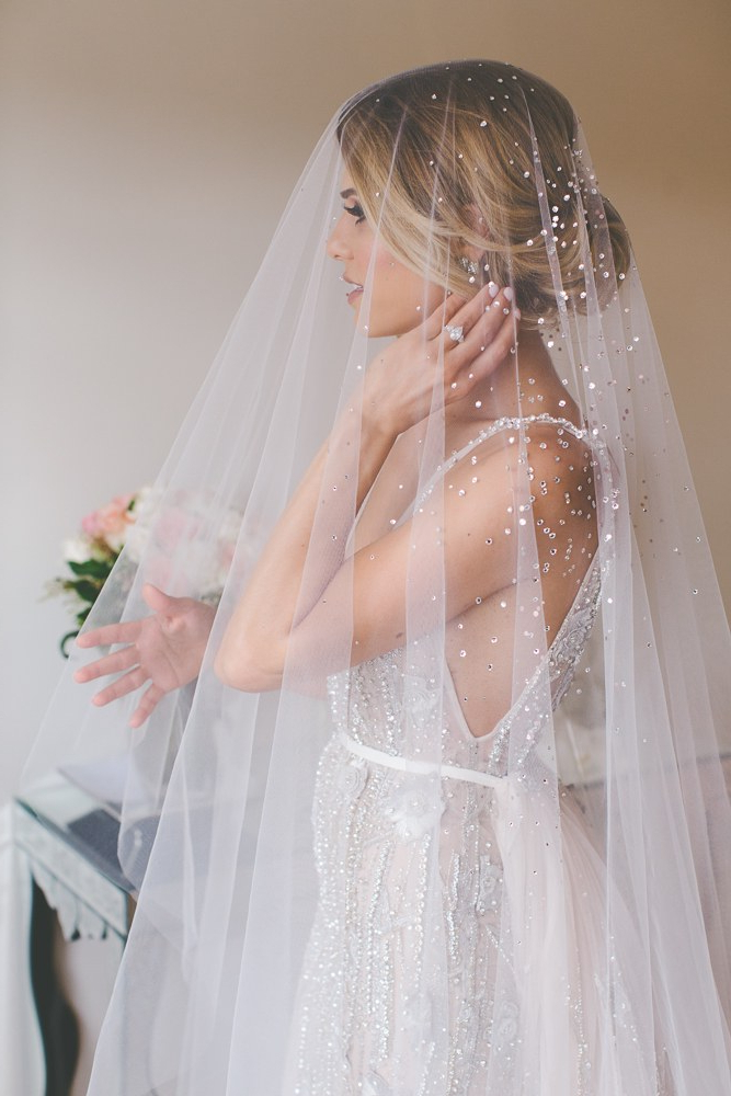 Wedding Veil Styles: How To Choose The Right Length For Your Dress In Wedding Hairstyles With Extra Long Veil With A Train (View 13 of 25)