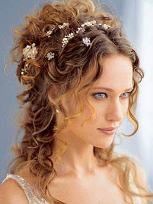 Why Wedding Hairstyles For Long Curly Hair Are In Vogue – My Bride Hair Inside Long Curly Bridal Hairstyles With A Tiara (View 25 of 25)