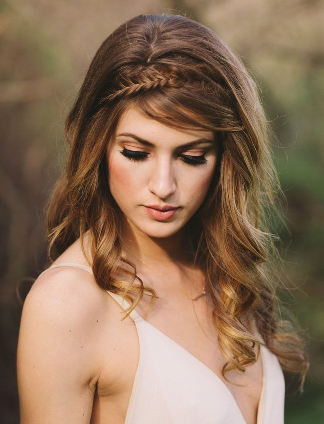 Wild + Romantic Wedding Inspiration | Girls | Pinterest | Hair, Hair Throughout Wild Waves Bridal Hairstyles (View 13 of 25)