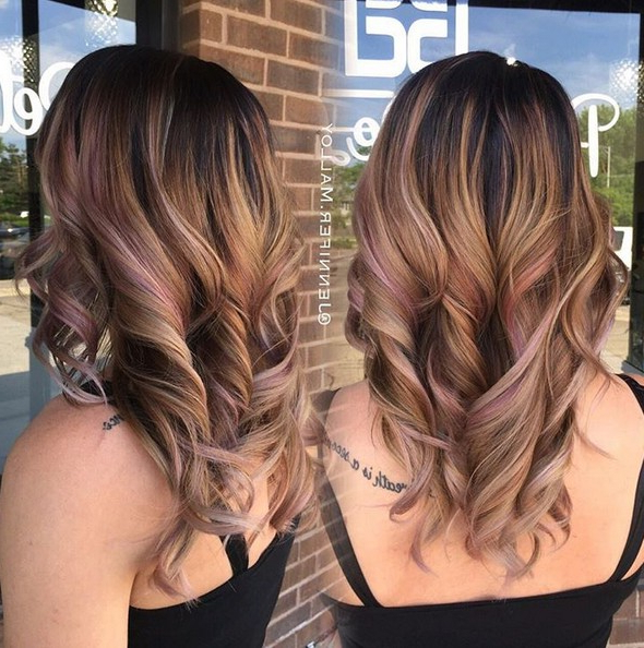 10 Beautiful Balayage Highlight Ideas – Popular Haircuts Intended For Long Hairstyles Brown With Highlights (View 14 of 25)
