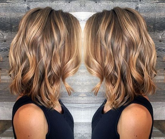 10 Best Medium Length Hair Cuts 2019 | New Hair New Me! | Hair, Thin Intended For Curly Golden Brown Balayage Long Hairstyles (View 13 of 25)