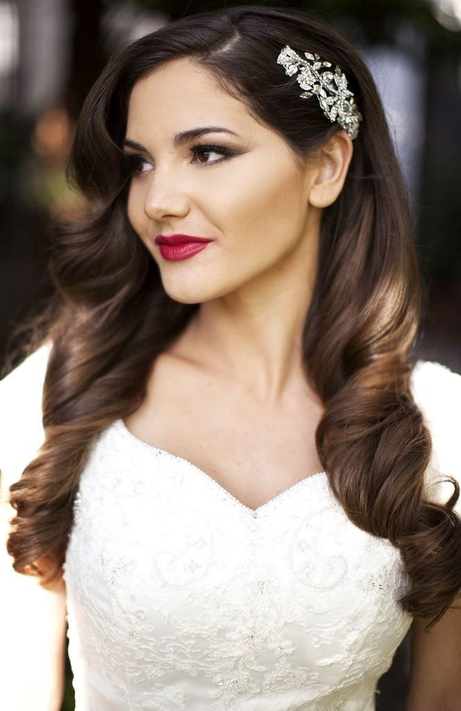 10 Bridal Hairstyle Ideas For Fine Hair – Hair World Magazine Throughout Long Hairstyles For Weddings Hair Down (View 24 of 25)