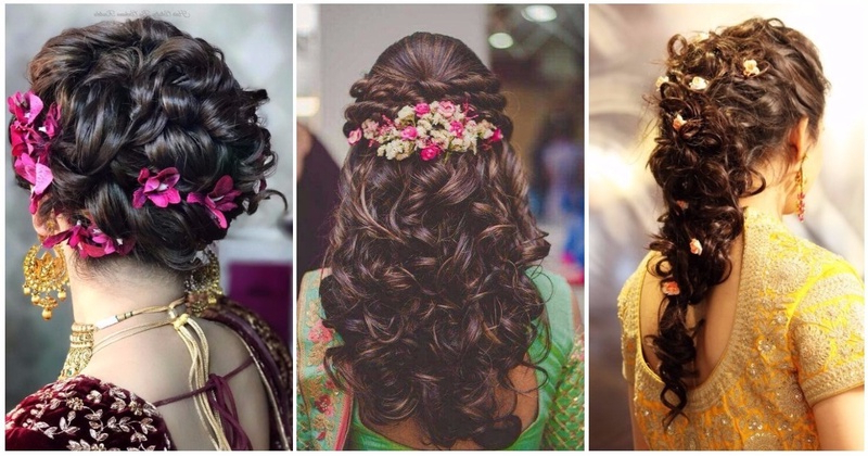 10 Bridal Hairstyles For Curly Hair That Are Perfect For Indian Within Curly Hairstyles For Weddings Long Hair (View 13 of 25)