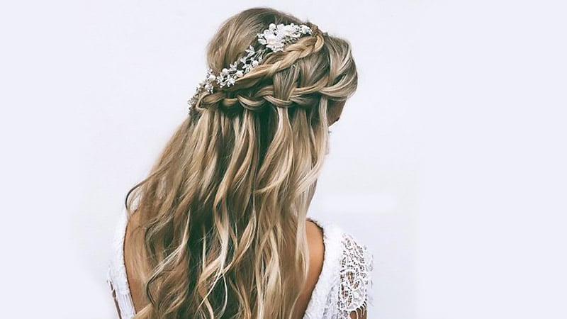 10 Easy Waterfall Braids You Can Do At Home – The Trend Spotter Intended For Cascading Curly Crown Braid Hairstyles (View 15 of 25)