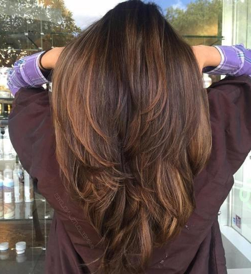 10 Exquisite Layered Haircuts For Thick Hair – Hairstylecamp For V Cut Layers Hairstyles For Straight Thick Hair (View 3 of 25)