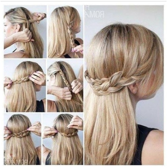 10 Half Up Braid Hairstyles Ideas – Popular Haircuts Within Cute Braiding Hairstyles For Long Hair (View 9 of 25)