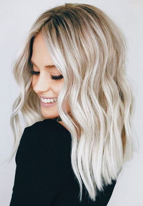 10 Medium To Long Hairstyles In Exciting Blonde Colors – Women Inside Modern Long Hairstyles (View 9 of 25)