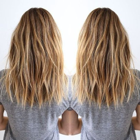 10 Messy Medium Hairstyles For Thick Hair 2019 With Long Haircuts For Thick Hair (View 15 of 25)