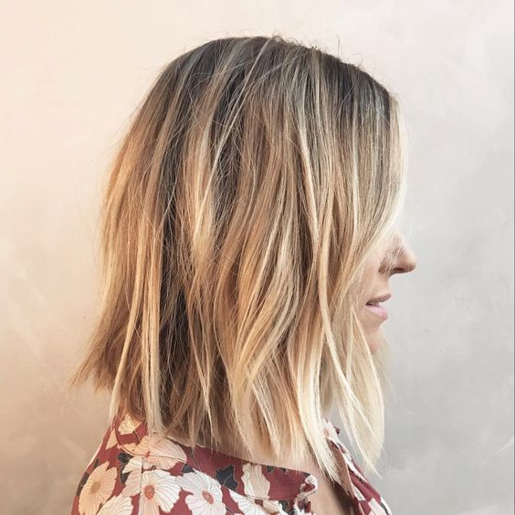 10 Messy Medium Hairstyles For Thick Hair 2019 With Medium Long Haircuts For Thick Hair (View 15 of 25)